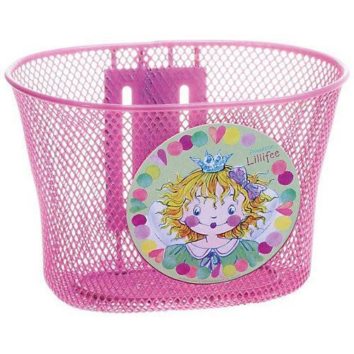 Prinzessin Lillifee Fahrradkorb aus Metall, pink