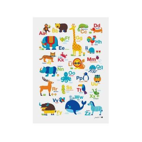 byGraziela Poster Tier ABC, 50 x 70 cm bunt