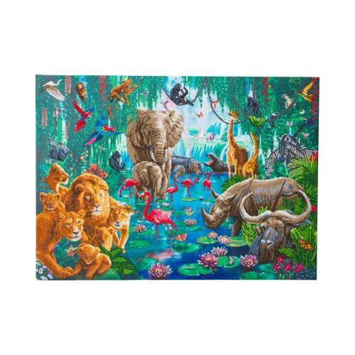 CRAFT Buddy Crystal Art Dschungel-Sammlung, 90 x 65 cm Kristallkunst