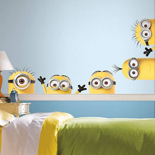 RoomMates Wandsticker Minions, 5-tlg., gelb