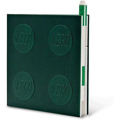 LEGO Notizheft LEGO, verschließbar, inkl. Gelstift, grün