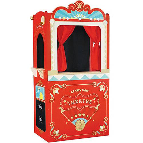 Le Toy Van Honeybake Showtime Puppentheater rot
