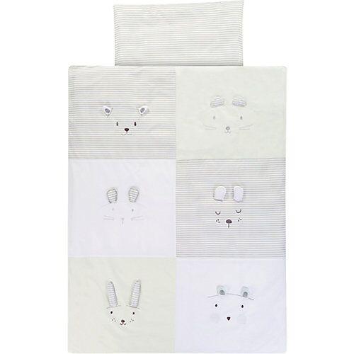 Alvi Kinderbettwäsche Faces, 100 x 135 + 40 x 60 cm beige