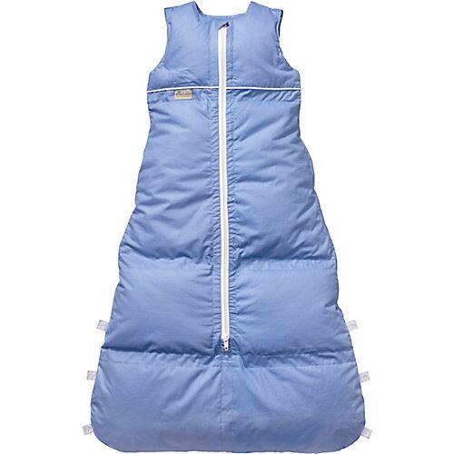 Artländer Winter-Schlafsack Uni Basic, Daunen, blau 130 cm azurblau