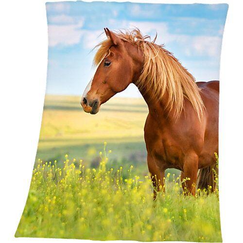 Herding Kuscheldecke Pferde, 130 x 160 cm mehrfarbig