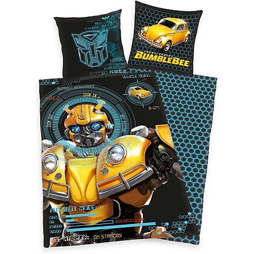 Herding Wende-Kinderbettwäsche Transformers Bumblebee, Renforcé, 135 x 200 cm