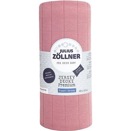 Zöllner Babydecke Premium, Jersey, Blush, 100 x 120 cm