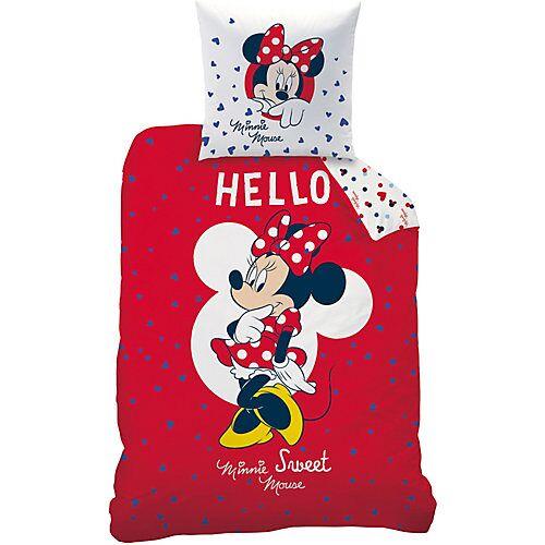 CTI Kinderbettwäsche Disney Minnie, Hello, 80 x 80 cm + 135 x 200 cm