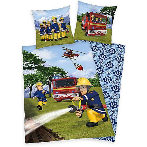 Herding Kinderbettwäsche Feuerwehrmann Sam, 80x80 cm + 135x200 cm