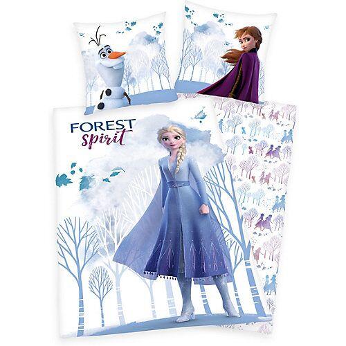 Disney Die Eiskönigin Bettwäsche Disney´s Eiskönigin 2, Linon, 135 x 200 + 80 x 80 cm weiß