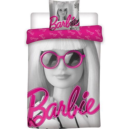 Barbie Kinderbettwäsche Barbie, Renforcé, grau, 135 x 200 + 80 x 80 cm