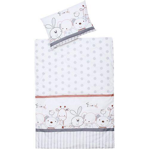 Schardt Kinderbettwäsche Mimi, Baumwolle, weiß, 100 x 135 cm