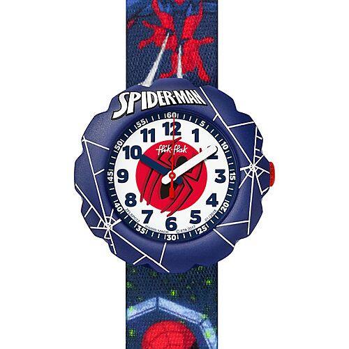 FLIK FLAK Kinder Armbanduhr Spider-Man in Action blau/rot
