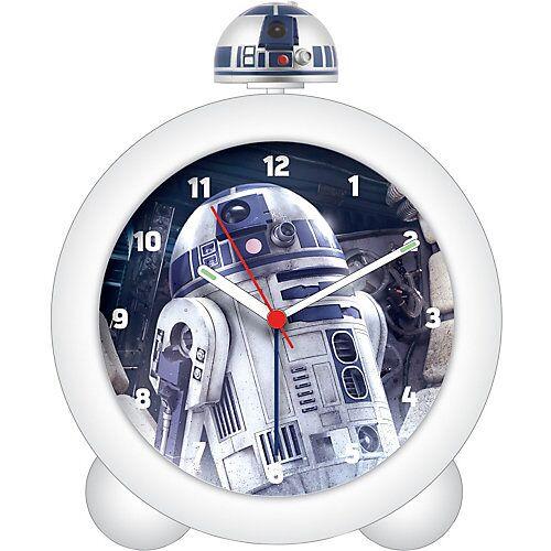 JOY TOY Star Wars Wecker mit Sound und leuchtender Figur, R2D2