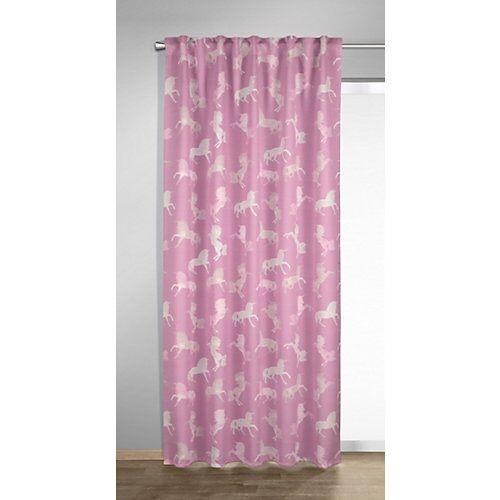 Albani Vorhang Schal, Einhorn, 245 x 135 cm, rosé rosa