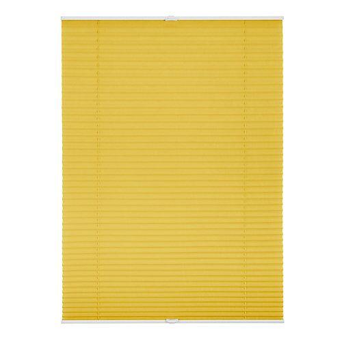 Lichtblick Plissee Klemmfix, ohne Bohren, verspannt Rollos gelb
