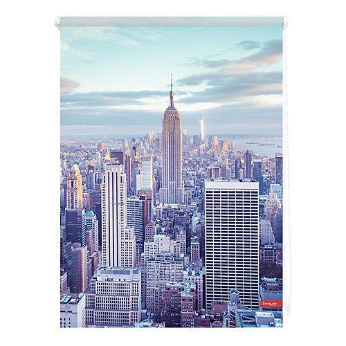 Lichtblick Rollo Klemmfix, ohne Bohren, blickdicht, New York - Blau blau
