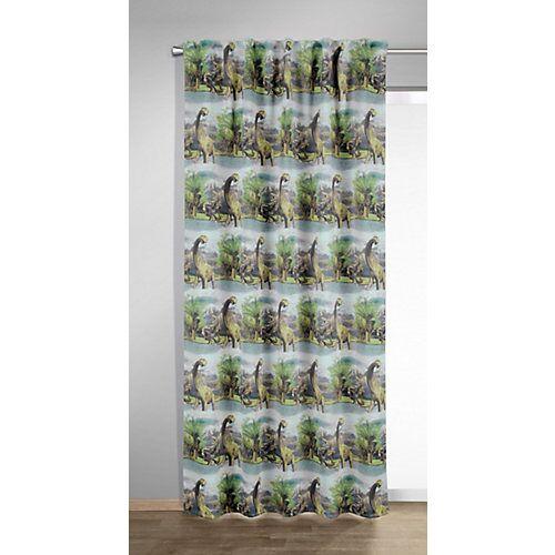 Vorhang Schal, Dino, grau, 245 x 135 cm
