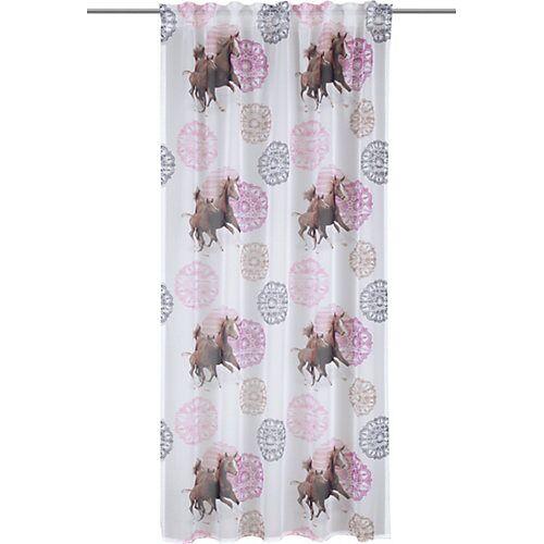 Vorhang Schal, Pf.II dd-w.-br. 245 x 135 cm rosa/lila