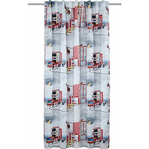 Vorhang Schal, Fire, dd-weiß/rot, 245 x 135 cm