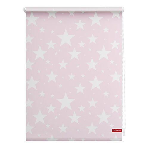 Lichtblick Rollo Klemmfix, ohne Bohren, blickdicht, Sterne rosa