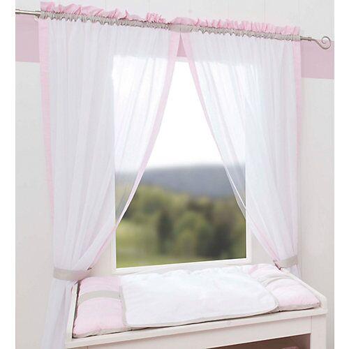 Be Be's Collection Vorhang Kleine Prinzessin, rosa, 240 x 100 cm (2 Schals)