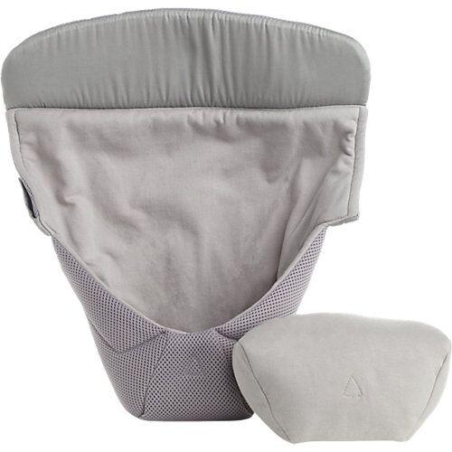 ERGObaby Neugeborenen-Einsatz Easy Snug, Cool Air Mesh, Grey grau