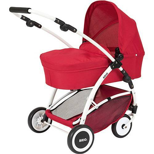 BRIO Puppenwagen Spin rot mit Schwenkrädern