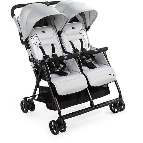 CHICCO Zwillingsbuggy Ohlalà Twin, silber