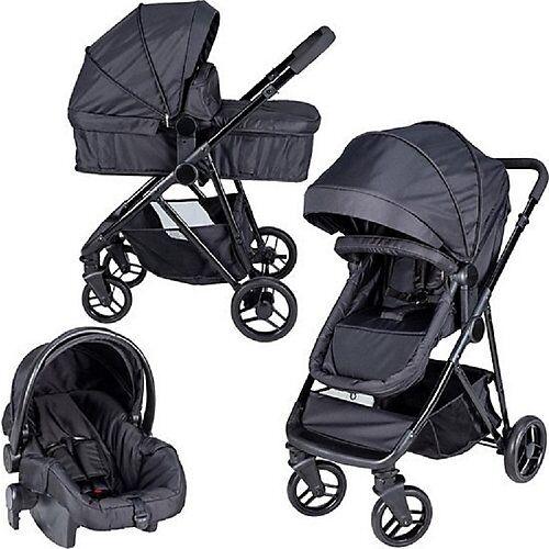 bebiesfirst© Kinderwagen Optima 3 in 1 schwarz