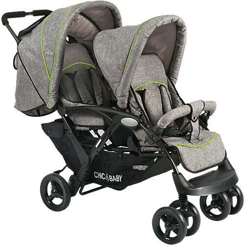 Chic 4 Baby Geschwisterwagen Duo, jeans grey grau