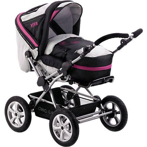 Chic 4 Baby Kombi Kinderwagen Viva, grau