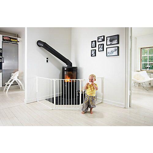 Baby Dan Konfigurationsgitter Flex L, weiß, 90 - 225 cm