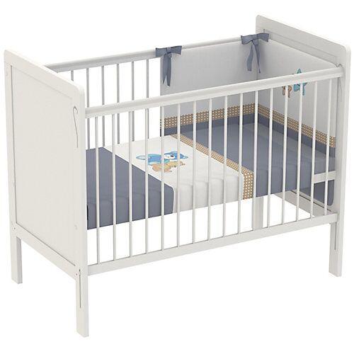 Polini-kids Kinderbett Simple 220, 120 x 60 cm, weiß, 3037-04