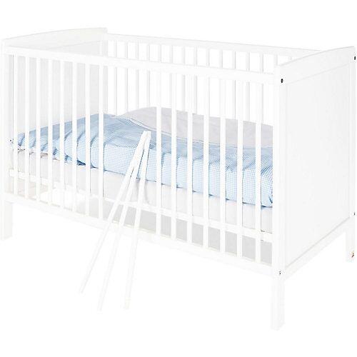 Pinolino Kinderbett ROBIN, Kiefer weiß, 60 x 120 cm