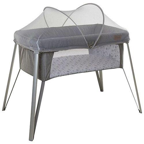 Babybett Reisebett mit Insektenschutz grau