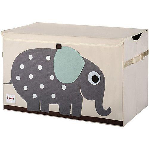 3 Sprouts Aufbewahrungskiste Elefant, 38 x 61 cm grau
