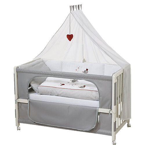 Roba Beistell- und Kinderbett komplett, 60 x 120 cm, Room Bed Adam & Eule, weiß grau