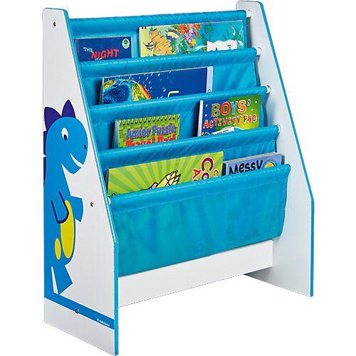 WORLDS APART Hängefach- Bücherregal Dinosaurier blau
