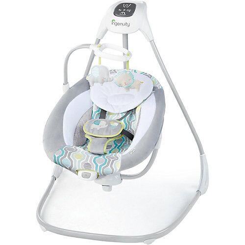 Ingenuity Schaukel SimpleComfort Cradling Swing™, Everston™, grau/weiß weiß/grau