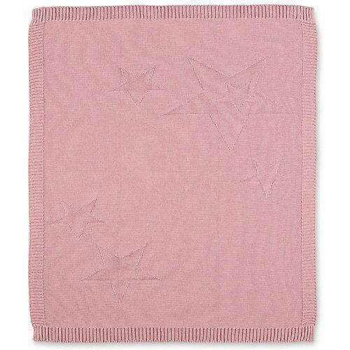 Sterntaler Kuscheldecke aus Strick Baylee, rosa, 75 x 90 cm