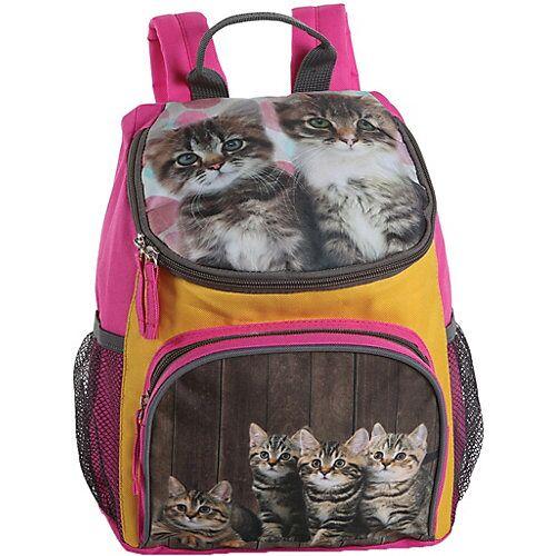 Fabrizio Kinderrucksack Katzen orange/pink