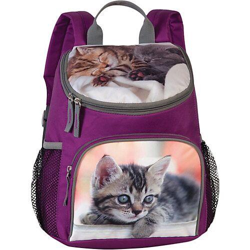 Fabrizio Kinderrucksack Katzen lila