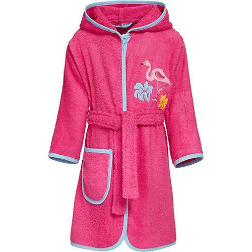 Playshoes Bademantel  pink Mädchen Kleinkinder