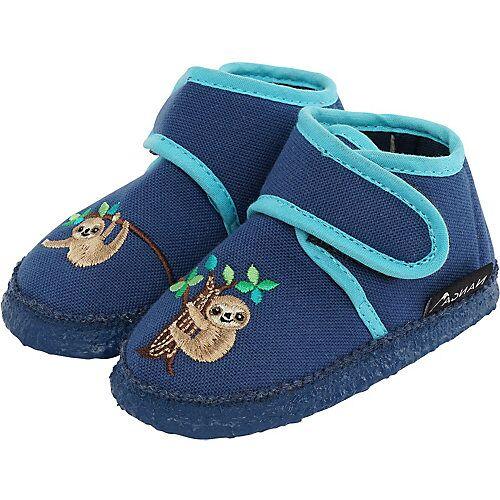 NANGA Baby Hausschuhe  blau Jungen Kleinkinder