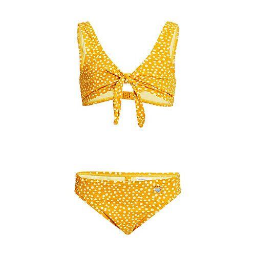 WE Fashion Mädchen-Bikini mit Tupfen und Strukturmuster Bikinis  gelb Mädchen Kinder