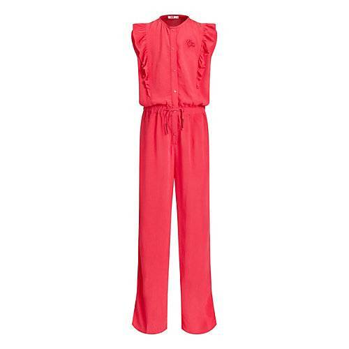 WE Fashion Mädchen-Jumpsuit mit Rüsche Jumpsuits  rosa Mädchen Kinder