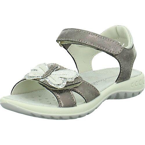 SOMMERKIND Sandaletten Sandalen taupe Mädchen Kinder