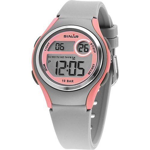 Sinar Jugend Armbanduhr, digital hellgrau