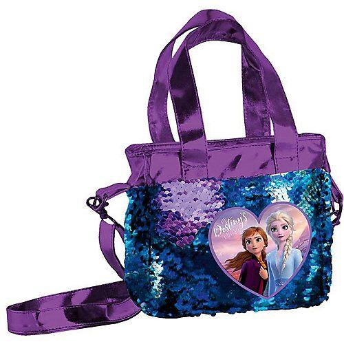 Disney Die Eiskönigin Handtasche Pailetten Die Eiskönigin II blau/lila Mädchen Kinder